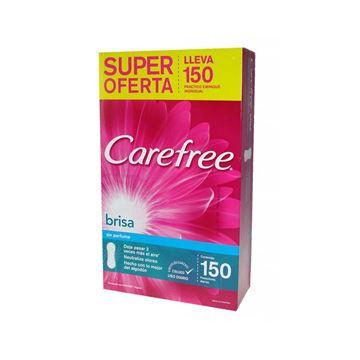 Imagen de Protectores Diarios Carefree Brisa sin Perfume 150 unidades