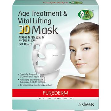 Imagen de Máscara 3D Age Treatment & Vital Lifting Purederm x 3