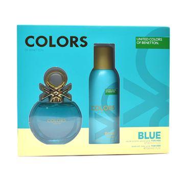 Imagen de Benetton Estuche Colors Blue Edt 80 ml + Desodorante 150 ml