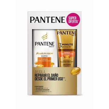 Imagen de Pack Pantene Sh. 400 ml + Ac. 90 ml Fuerza y Reconstruccion