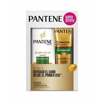 Imagen de Pack Pantene Sh. 400 ml + Ac. 90 ml Restauracion