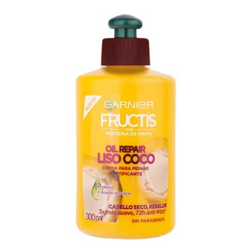 Imagen de Crema de Peinar Fructis Oil Repair Liso Coco