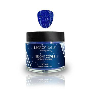 Imagen de Polvo Acrilico Legacy Nails Bright Cover Sky Blue 56 gr