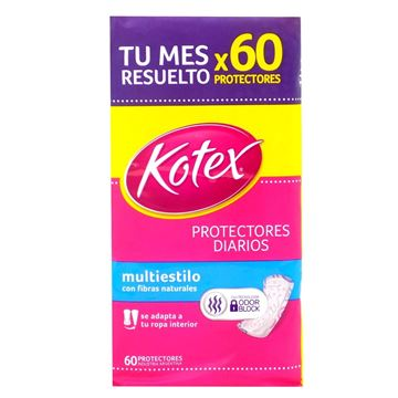 Imagen de Protectores Diarios Multiestilo Kotex x60