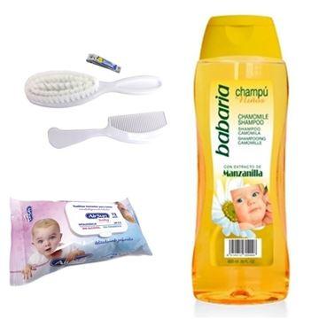 Imagen de Kit Bebe Shampoo + Toallitas Humedas + Cepillo y Peine
