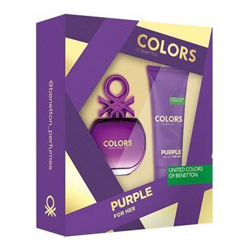 Imagen de Set Benetton Colors Purple Edt 50 ml + Loción 75 ml